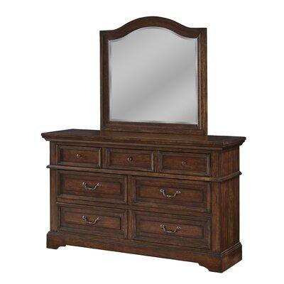 Kennison 7 Drawer Dresser with Mirror