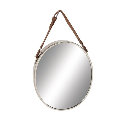 Stainless Steel Leather Wall Mirror
