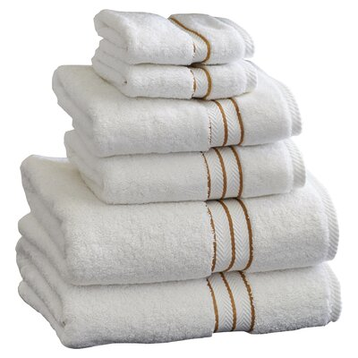 Superior 6 Piece Towel Set Color: Latte