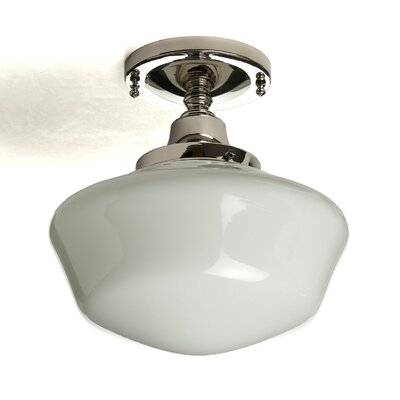 Fredericksen 1-Light Semi Flush Mount Finish: Polished Nickel
