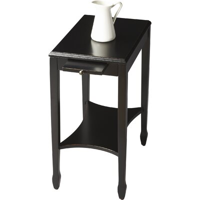 Heisler Masterpiece End Table Color: Black Licorice