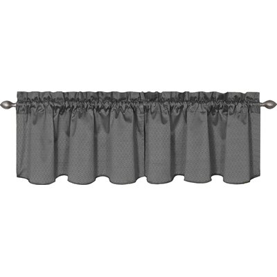 Valasquez 42 Blackout Window Curtain Valance Color: Charcoal