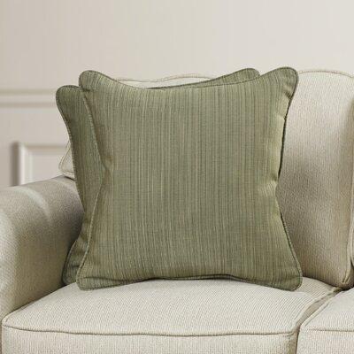 Baskerville Outdoor Throw Pillow Size: 18 x 18, Fabric: Dupione Laurel
