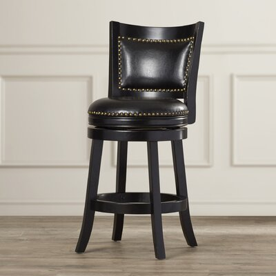 Carstensen 24 Swivel Bar Stool Finish: Black