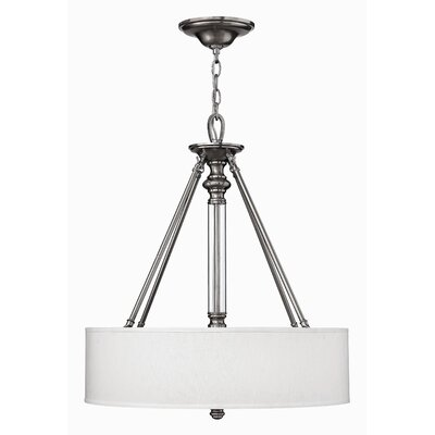 Middlebrooks 3-Light Drum Pendant Finish: Brushed Nickel