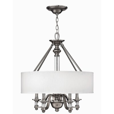 Middlebrooks 4-Light Drum Pendant Finish: Brushed Nickel