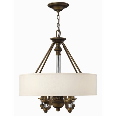 Middlebrooks 4-Light Drum Pendant Finish: English Bronze