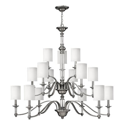 Middlebrooks 15-Light Shaded Chandelier Finish: Brushed Nickel