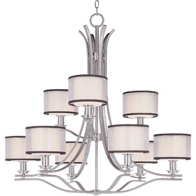 Houseknecht 9-Light Drum Chandelier