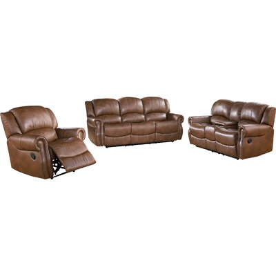 Baynes 3 Piece Reclining Sofa Set