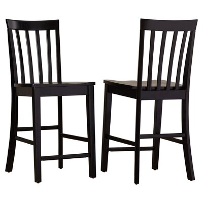24 Bar Stool Finish: Rich Black