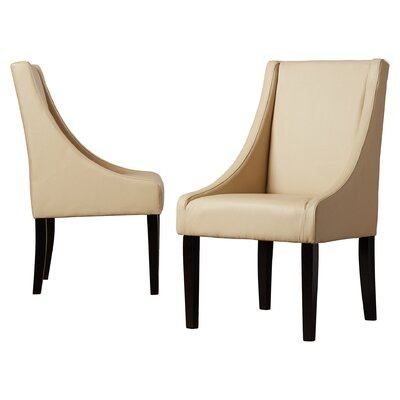 Flossmoor Upholstered Dining Chair Color: Sand