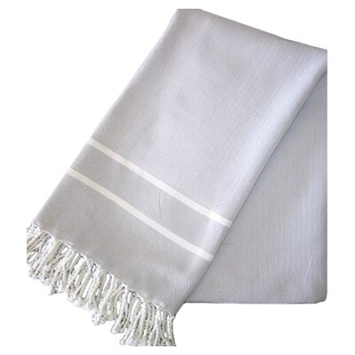 Sumner Stripe Hand Towel (Set of 2) Color: Grey/White