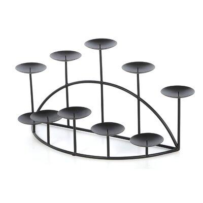 Metal Ten Candle Candelabra Set