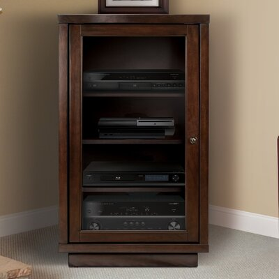 Traditional Audio Rack with Glass Doors