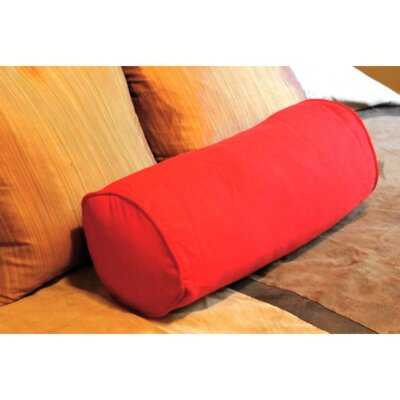 Leesburg Solid Twill Bolster Pillow Color: Red