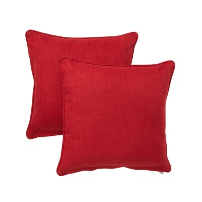 Duquette Outdoor Throw Pillow Color: Paprika