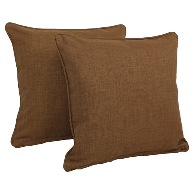 Cadwallader Solid Outdoor Throw Pillow Color: Mocha