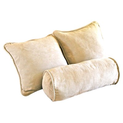 Broadwell Throw and Bolster Pillow Set Color: Java