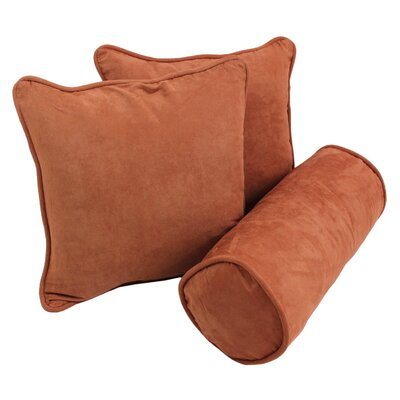 Broadwell Throw and Bolster Pillow Set Color: Spice