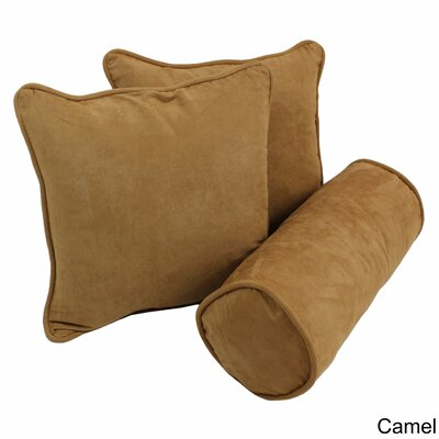 Broadwell Throw and Bolster Pillow Set Color: Camel