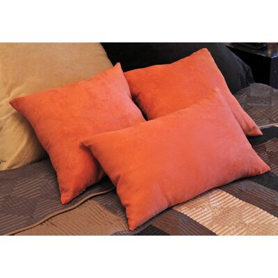 Galbraith 3 Piece Twill Throw Pillow Set Color: Spice
