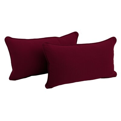 Paschall Lumbar Pillow Color: Burgundy