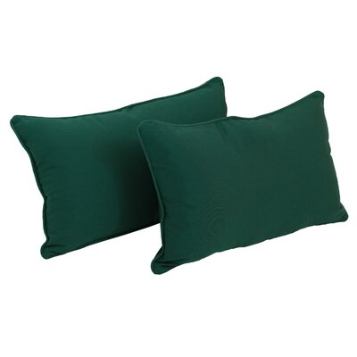 Paschall Lumbar Pillow Color: Forest Green