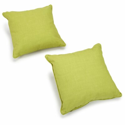 Cadwallader Solid Outdoor Throw Pillow Color: Lime