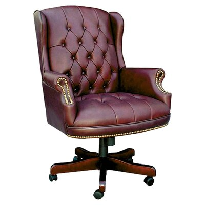 Norden Executive Chair Upholstery: Oxblood Vinyl