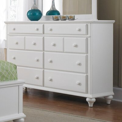 Kangley 8 Drawer Dresser Finish: Linen White