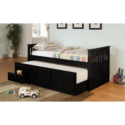 Kirschner Daybed with Trundle Finish: Black