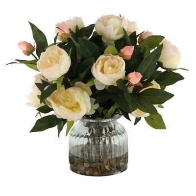 Peonies in Glass Vase Color: Burgundy / Pink DBHC6260 27711902
