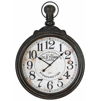 Oversized 28 Pocket Watch Style Large Wall Clock