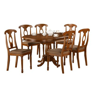 Darby Home Co Stella 7 Piece Dining Set Chair Upholstery: Upholstered