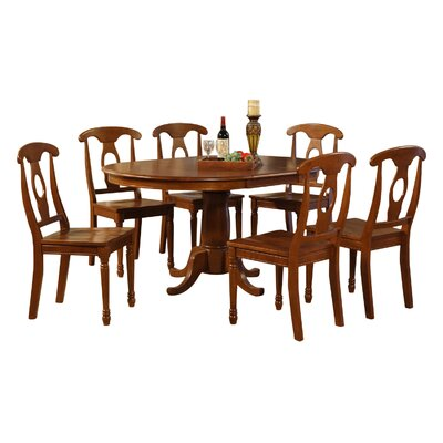 Stella 7 Piece Dining Set Chair Upholstery: Non-Upholstered Wood