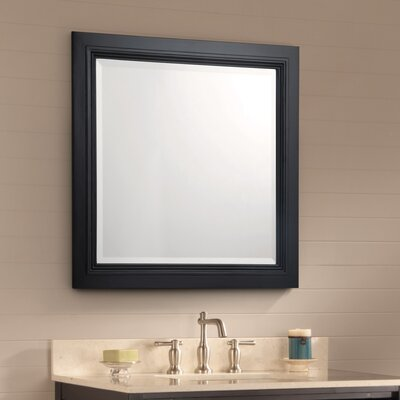 Cuffee Bathroom Mirror Finish: Antique Black