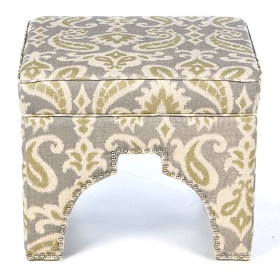 Countess Ottoman Upholstery: Light Grey /  Off White