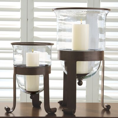 Hurricane Candle Holder Size: Small