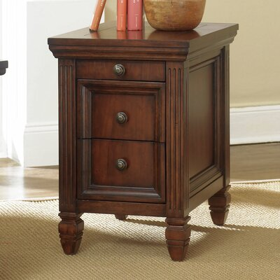 Goudreau End Table With Storage Color: Cherry