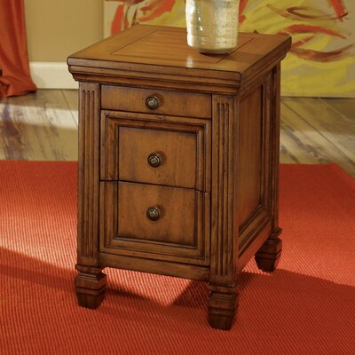 Goudreau End Table With Storage Color: Oak