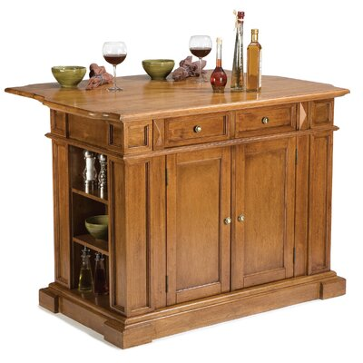 Ehrhardt Kitchen Island Base Finish: Cottage Oak