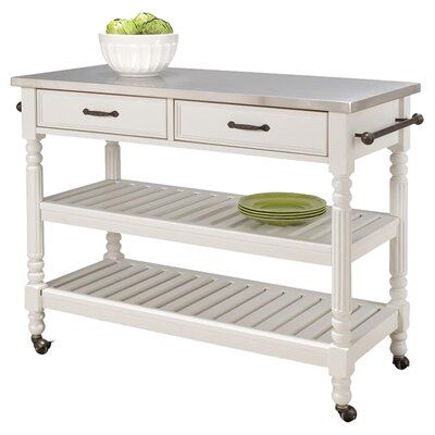 Fitzhugh Kitchen Island Base Finish: White