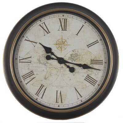 Oversized 24 Antique Map Wall Clock