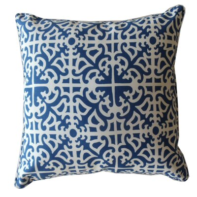 Herndon Indoor/Outdoor Throw Pillow Color: Blue