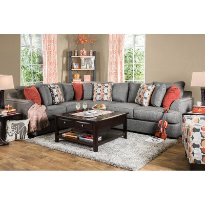 Fyffe Sectional Upholstery: Gray