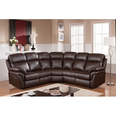 Carruthers Reclining Sectional Upholstery: Brown