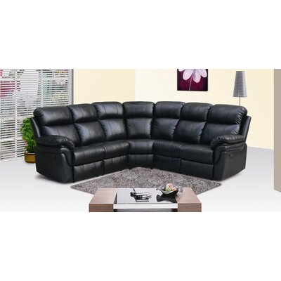 Carruthers Reclining Sectional Upholstery: Black