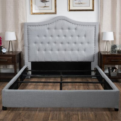 Saltsman Panel Bed Size: King, Upholstery: Grey