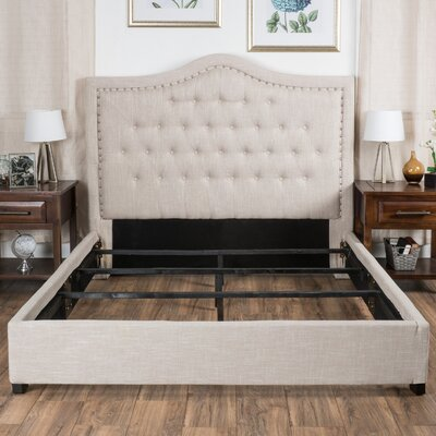 Saltsman Panel Bed Size: Queen, Upholstery: Khaki